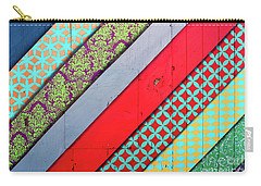 Off The Wall - Pattern 4 Carry-all Pouch by Colleen Kammerer