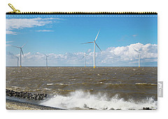 Carry-all Pouch featuring the photograph Offshore Windmill Park by Hans Engbers
