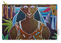Carry-all Pouch featuring the painting Ofrendas De Mi Tierra II by Oscar Ortiz