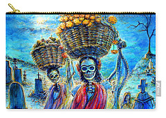 Carry-all Pouch featuring the painting Ofrendas by Heather Calderon