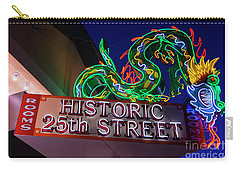 Carry-all Pouch featuring the photograph Ogden's Historic 25th Street Neon Dragon Sign by Gary Whitton