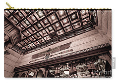 Carry-all Pouch featuring the photograph Ogden's Historic Peery's Egyptian Theater At Night  by Gary Whitton