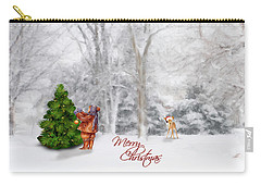 Carry-all Pouch featuring the photograph Oh Christmas Tree Greeting by Mary Timman