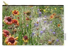 Oh Hi Orange Red Purple Flowers Carry-all Pouch