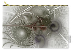 Carry-all Pouch featuring the digital art Oh That I Had Wings - Fractal Art by NirvanaBlues