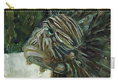 Carry-all Pouch featuring the painting Oh The Troubles I've Seen by Billie Colson