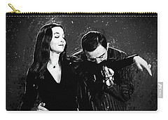 Carry-all Pouch featuring the digital art Oh Tish I Love It When You Speak French - The Addams Family  by Taylan Apukovska