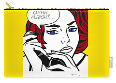 Ohhh...alright Carry-all Pouch by Roy Lichtenstein