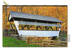 Ohio Country Roads - Rock Mill Covered Bridge Over The Hocking River No. 2a - Fairfield County Carry-all Pouch