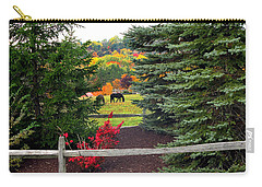 Carry-all Pouch featuring the photograph Ohio Farm In Autumn by Joan  Minchak