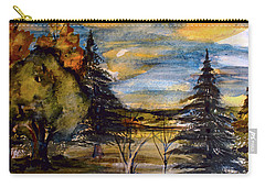 Carry-all Pouch featuring the painting Ohio Sunset by Mindy Newman