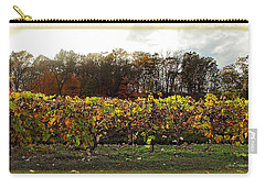 Carry-all Pouch featuring the photograph Ohio Winery In Autumn by Joan  Minchak