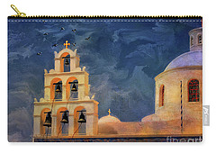 Carry-all Pouch featuring the photograph Oia Sunset Imagined by Lois Bryan