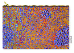 Oil And Water Grape Design Carry-all Pouch by Bruce Pritchett