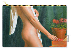Original Oil Painting Male Nude Boy Man On Canvas#16-2-5-16 Carry-all Pouch