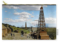 Carry-all Pouch featuring the photograph Oil Well by Granger