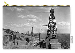 Carry-all Pouch featuring the photograph Oil Well, Wyoming, C1910 by Granger