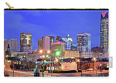 Carry-all Pouch featuring the photograph Okc Blue Evening by Frozen in Time Fine Art Photography