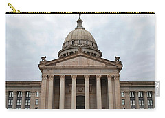 Oklahoma State Capitol - Front View Carry-all Pouch by Matt Harang