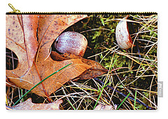 Old Acorns And Leaves Carry-all Pouch