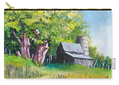 Carry-all Pouch featuring the painting Old As The Oaks by Jim Phillips
