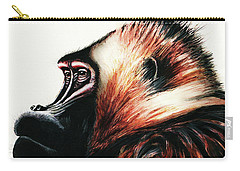 Old Baboon Animal Art Drawing Carry-all Pouch