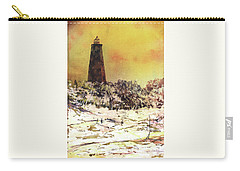 Carry-all Pouch featuring the painting Old Baldy Lighthouse- North Carolina by Ryan Fox