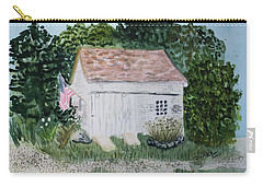 Carry-all Pouch featuring the painting Old Barn In Eastham Ma by Donna Walsh