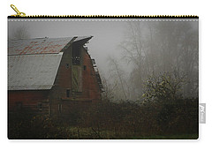 Old Barn In Fog Carry-all Pouch