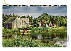 Old Barn In Kingsburg Carry-all Pouch by Ken Morris