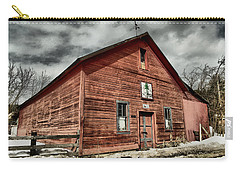 Carry-all Pouch featuring the photograph Old Barn In Roslyn Wa by Jeff Swan