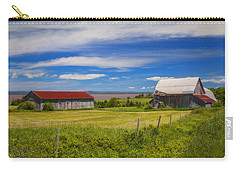 Old Barns At Burntcoat Head Carry-all Pouch by Ken Morris
