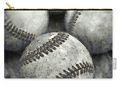 Old Baseballs Pencil Carry-all Pouch by Edward Fielding