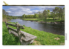 Old Bench Along Spey River, Scotland Carry-all Pouch