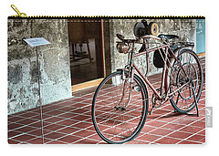 Carry-all Pouch featuring the photograph Old Bicycle In The Monastery Of Santo Estevo De Ribas Del Sil by Eduardo Jose Accorinti