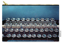 Carry-all Pouch featuring the photograph Old Blue Typewriter by Edward Fielding