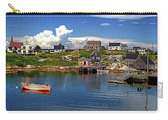 Carry-all Pouch featuring the photograph Old Boat At Peggy's Cove by Rodney Campbell