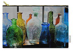 Carry-all Pouch featuring the photograph Old Bottles by John Scates