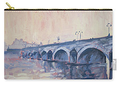 Old Bridge Of Maastricht In Warm Diffuse Autumn Light Carry-all Pouch by Nop Briex