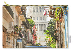 Old Car And El Capitolio Carry-all Pouch