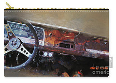 Carry-all Pouch featuring the digital art Old Chevy 2016 by Kathryn Strick