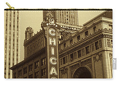 Old Chicago Theater - Vintage Photo Art Print Carry-all Pouch