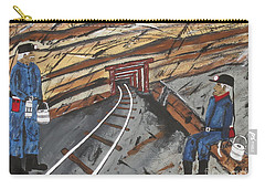 Carry-all Pouch featuring the painting  Coal Miners by Jeffrey Koss