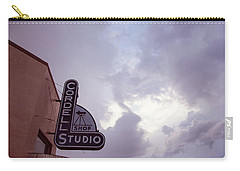 Carry-all Pouch featuring the photograph Old Cordell Photo Studio by Toni Hopper