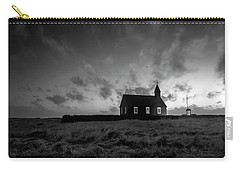 Old Countryside Church In Iceland Carry-all Pouch