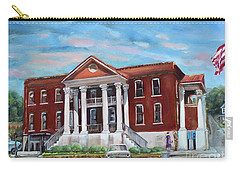 Carry-all Pouch featuring the painting Old Courthouse In Ellijay Ga - Gilmer County Courthouse by Jan Dappen