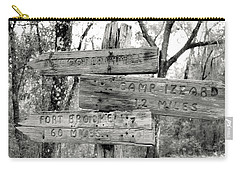 Carry-all Pouch featuring the photograph Old Directional Signs At Fort Cooper  by Debra Forand