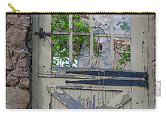 Carry-all Pouch featuring the photograph Old Door From Bridgetown Millhouse Bucks County Pa by Bill Cannon