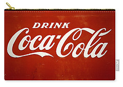 Carry-all Pouch featuring the photograph Old Drink Coca-cola Sign by Marilyn Hunt