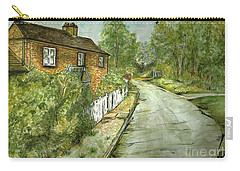 Carry-all Pouch featuring the painting Old English Cottage by Teresa White